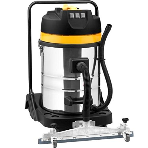 Syntrox Germany 3900 Watt 100 Liter Absaugmobil Staubsauger Edelstahl Industriesauger Nass und Trockensauger